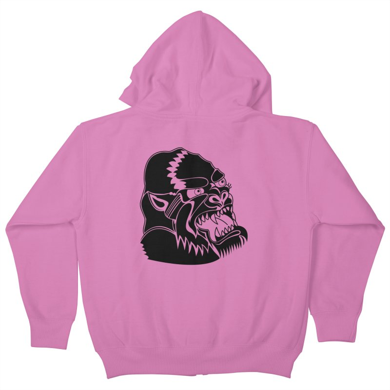Beast Neck Face Kids Zip-Up Hoody by DEADBEAT HERO Artist Shop