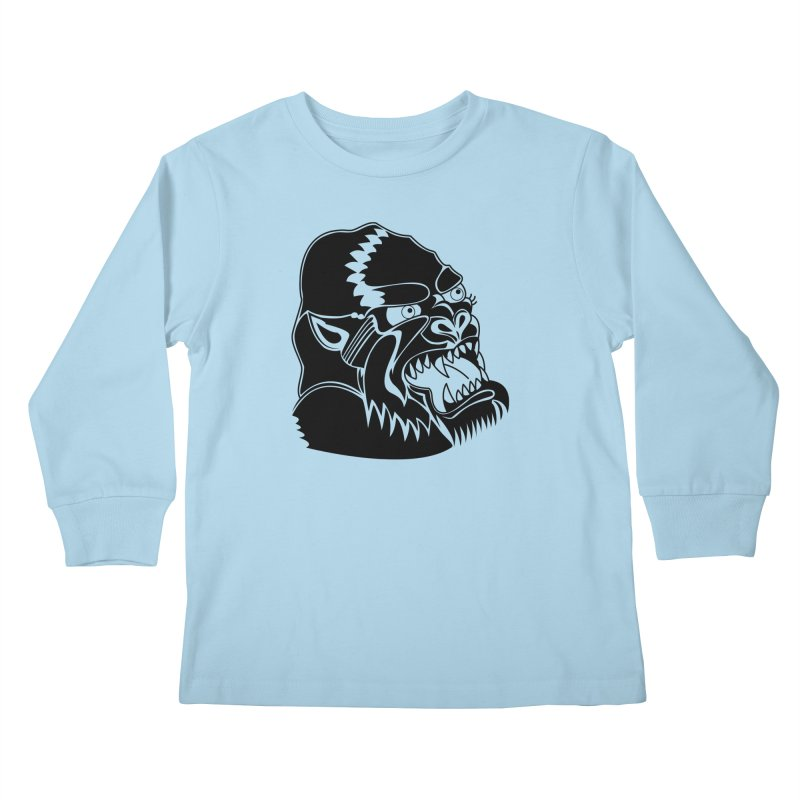 Beast Neck Face Kids Longsleeve T-Shirt by DEADBEAT HERO Artist Shop