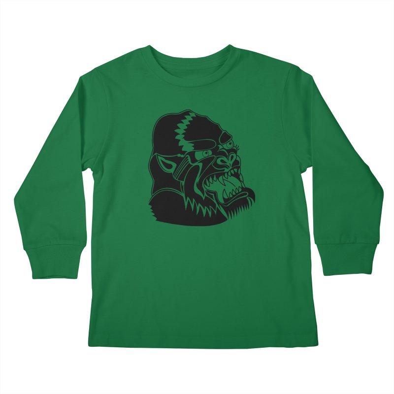 Beast Neck Face Kids Longsleeve T-Shirt by DEADBEAT HERO Artist Shop
