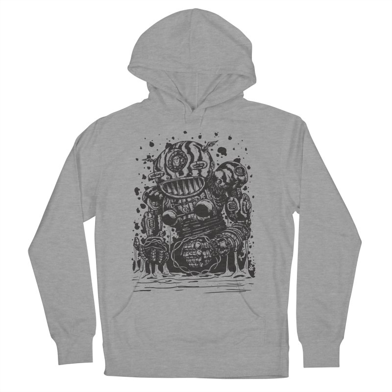 Spaceman tee Men's French Terry Pullover Hoody by DEADBEAT HERO Artist Shop
