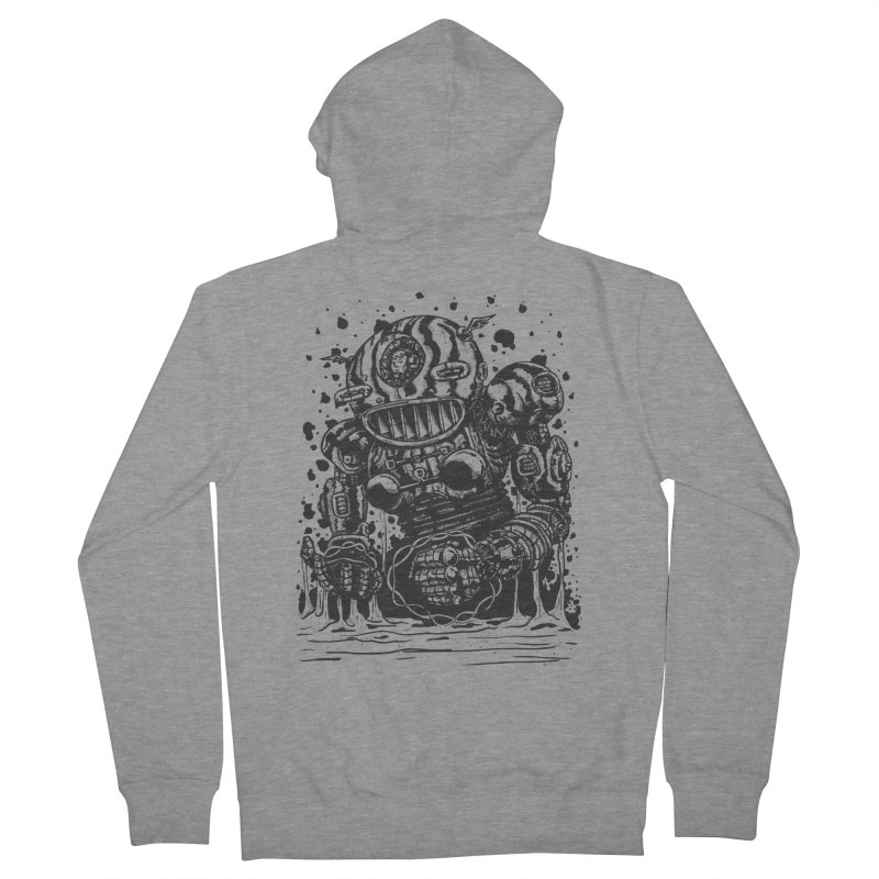 Spaceman tee Women's French Terry Zip-Up Hoody by DEADBEAT HERO Artist Shop