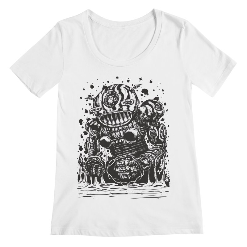 Spaceman tee Women's Regular Scoop Neck by DEADBEAT HERO Artist Shop