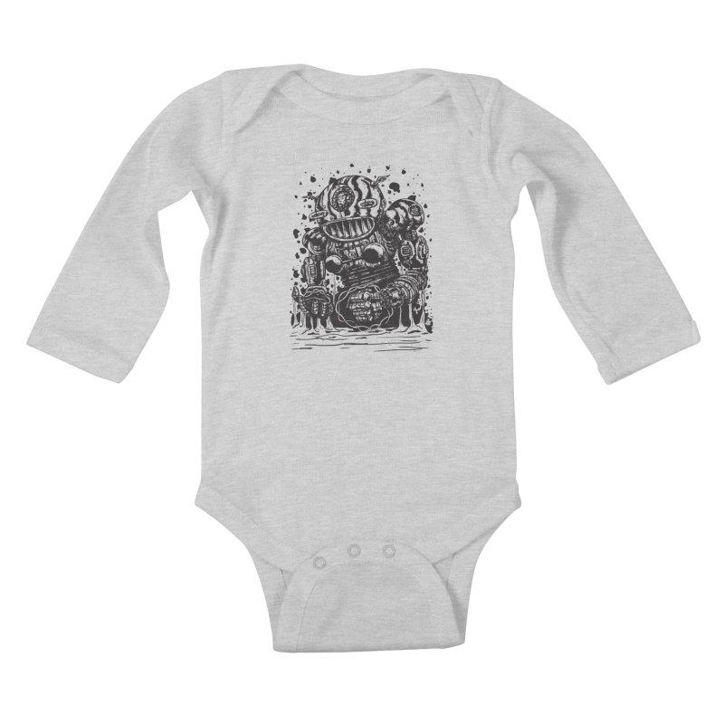 Spaceman tee Kids Baby Longsleeve Bodysuit by DEADBEAT HERO Artist Shop
