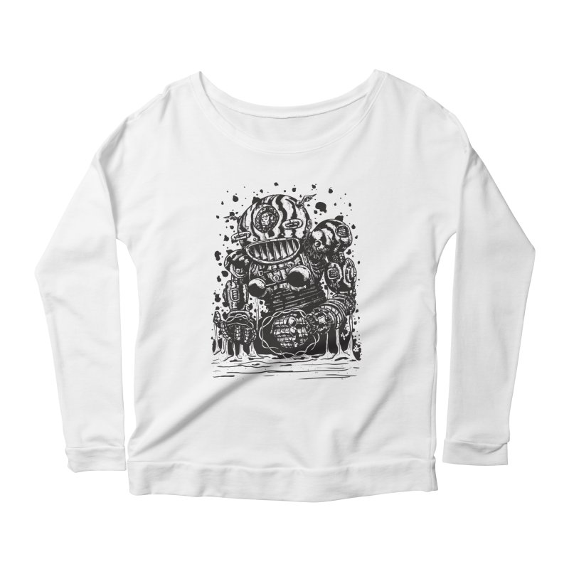 Spaceman tee Women's Scoop Neck Longsleeve T-Shirt by DEADBEAT HERO Artist Shop