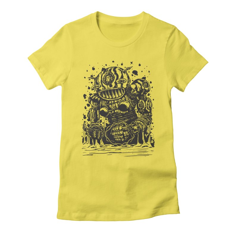 Spaceman tee Women's Fitted T-Shirt by DEADBEAT HERO Artist Shop