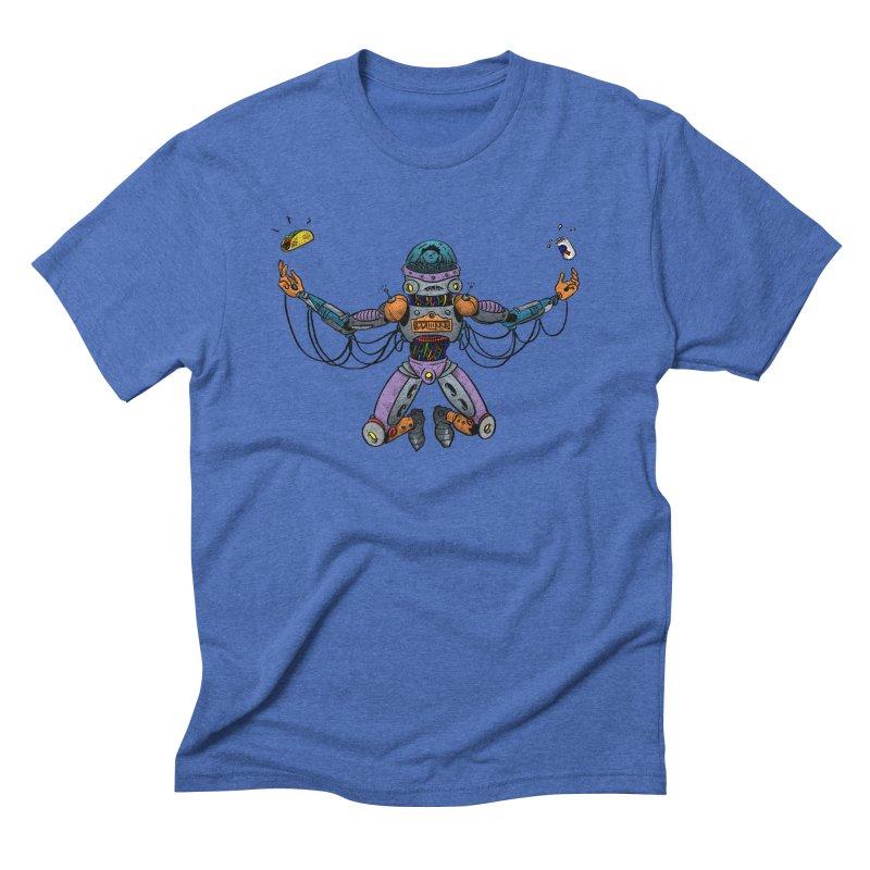 Space Tacos Men's Triblend T-Shirt by DEADBEAT HERO Artist Shop