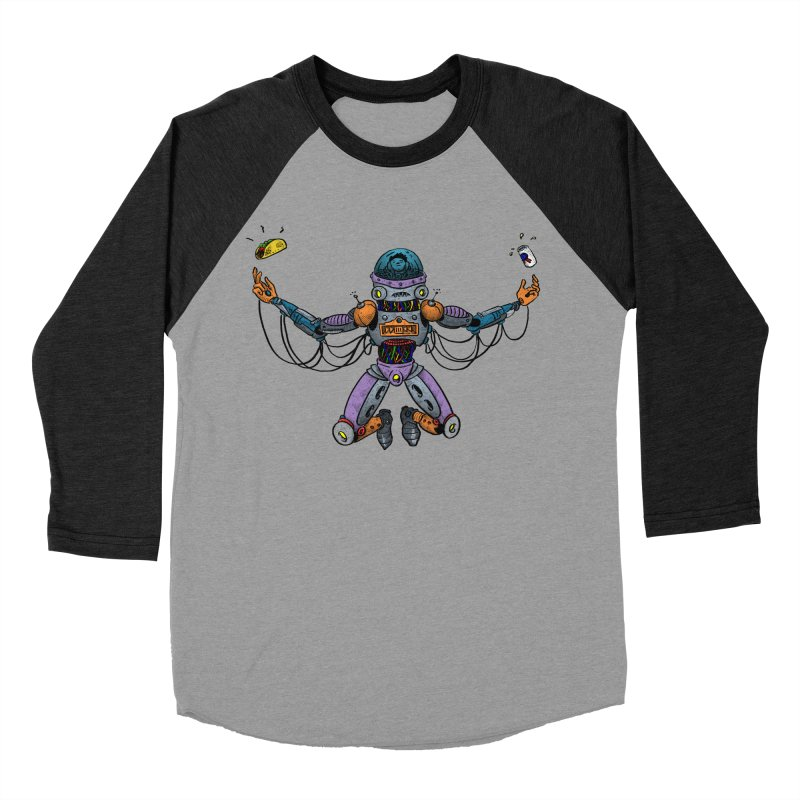 Space Tacos Men's Baseball Triblend Longsleeve T-Shirt by DEADBEAT HERO Artist Shop