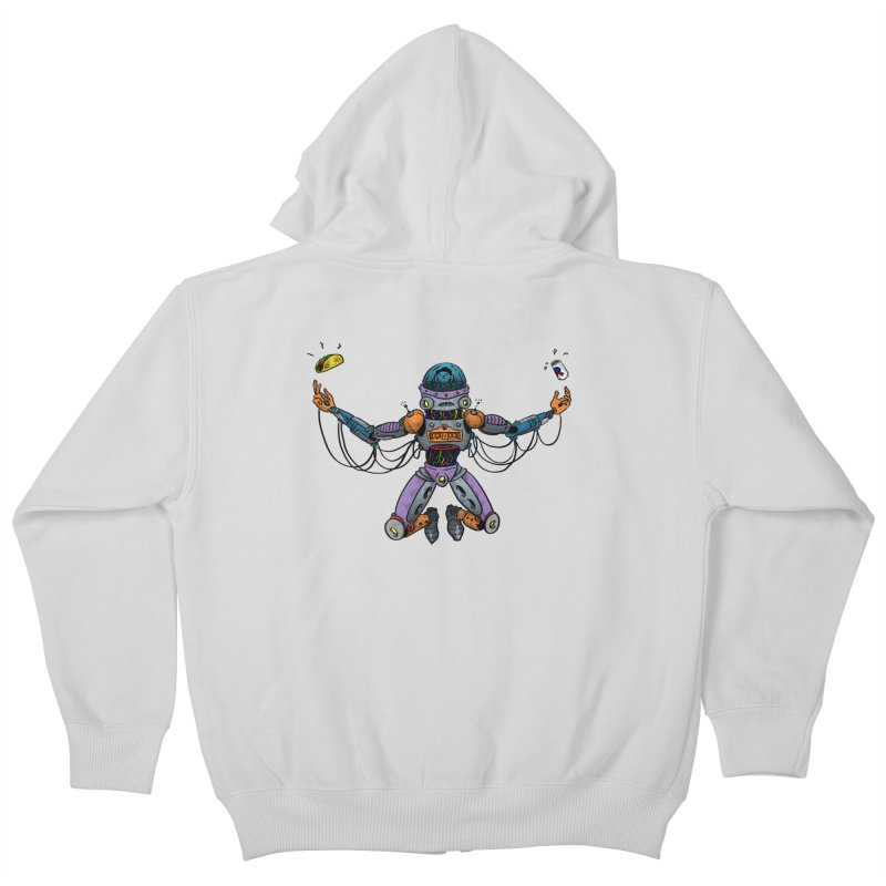 Space Tacos Kids Zip-Up Hoody by DEADBEAT HERO Artist Shop