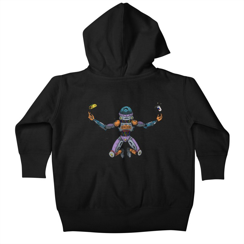 Space Tacos Kids Baby Zip-Up Hoody by DEADBEAT HERO Artist Shop