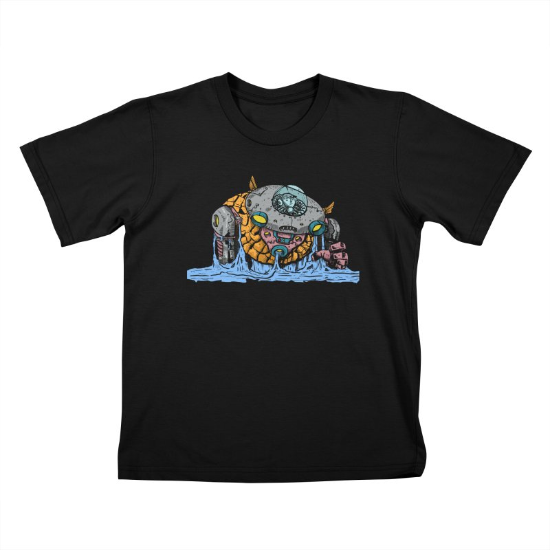 Water Spaceman Kids T-Shirt by DEADBEAT HERO Artist Shop