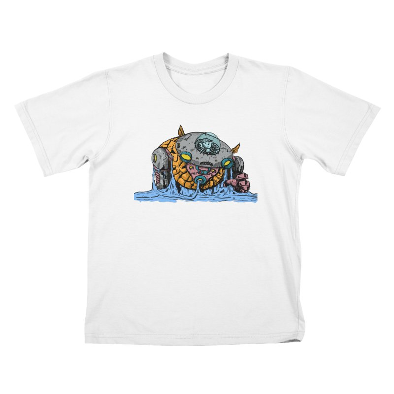 Water Spaceman Kids T-Shirt by DEADBEAT HERO Artist Shop