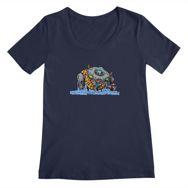 Water Spaceman Women's Regular Scoop Neck by DEADBEAT HERO Artist Shop