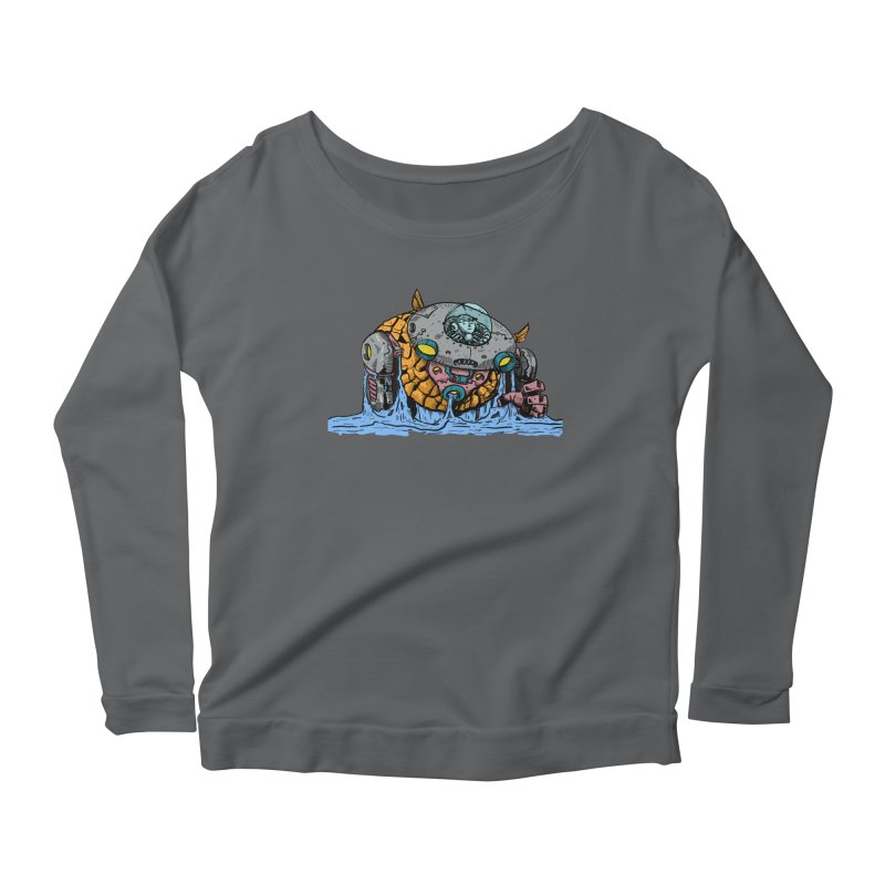Water Spaceman Women's Scoop Neck Longsleeve T-Shirt by DEADBEAT HERO Artist Shop