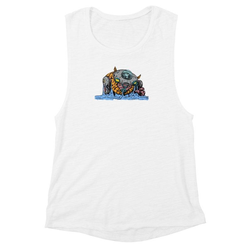 Water Spaceman Women's Muscle Tank by DEADBEAT HERO Artist Shop