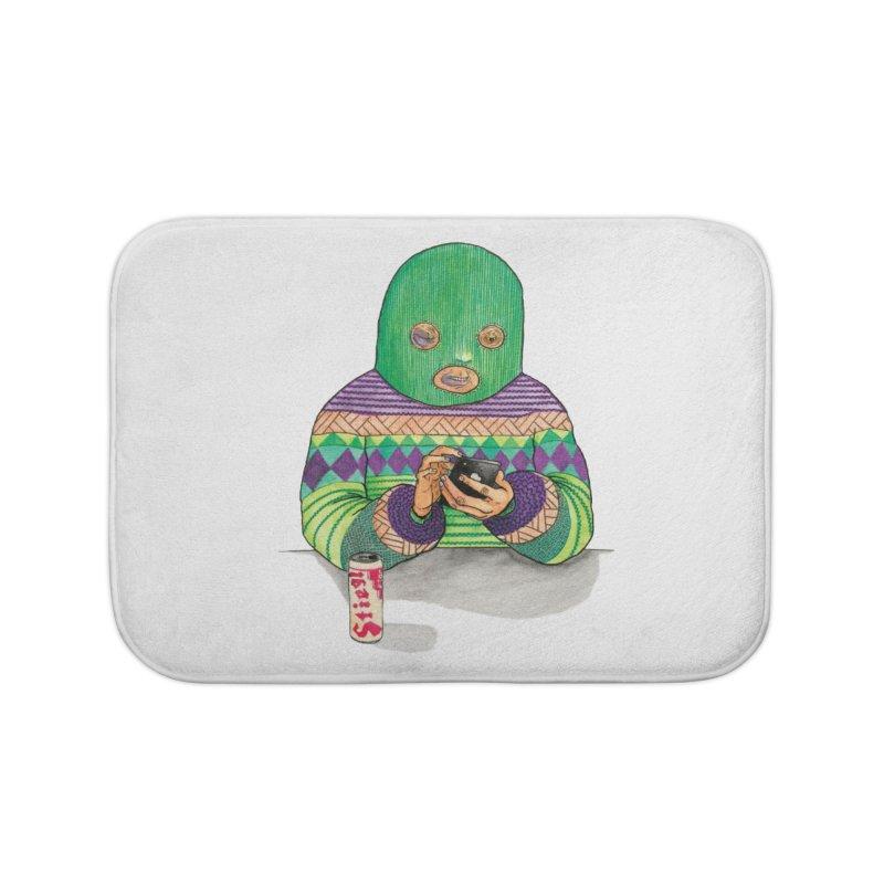 Sweatermen Tee Home Bath Mat by DEADBEAT HERO Artist Shop