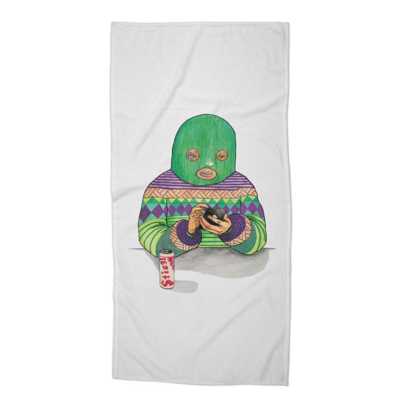 Sweatermen Tee Accessories Beach Towel by DEADBEAT HERO Artist Shop