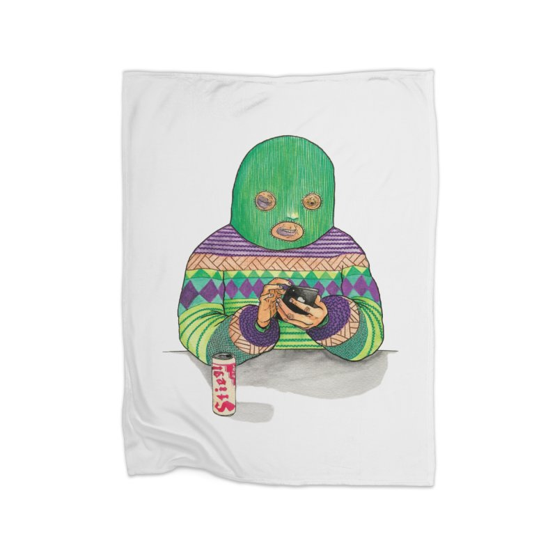 Sweatermen Tee Home Blanket by DEADBEAT HERO Artist Shop