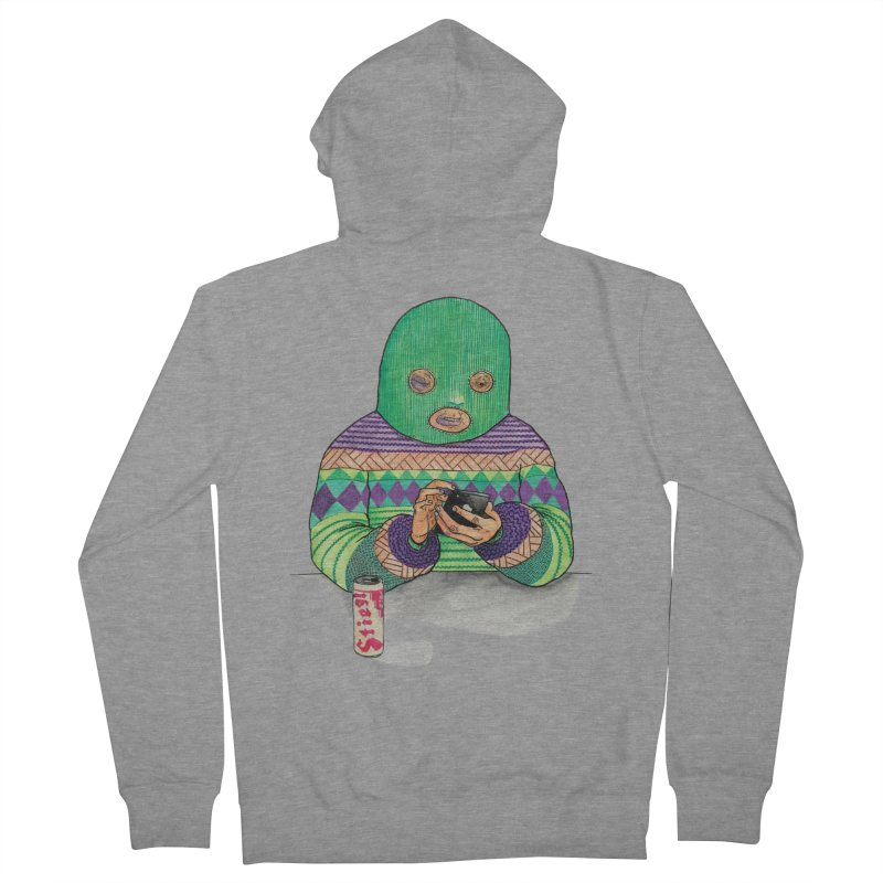 Sweatermen Tee Women's Zip-Up Hoody by DEADBEAT HERO Artist Shop