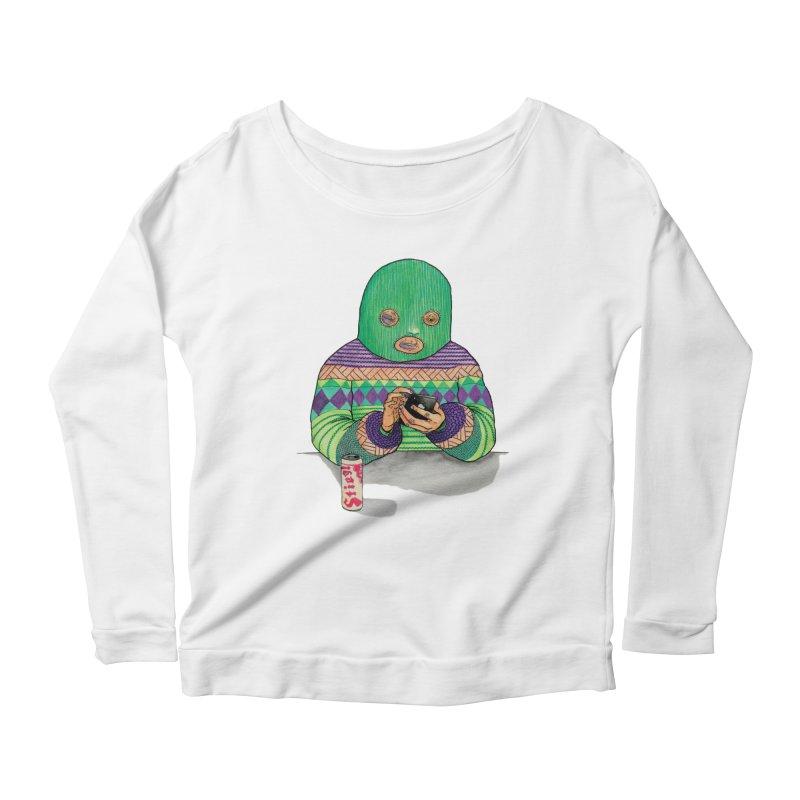 Sweatermen Tee Women's Longsleeve Scoopneck  by DEADBEAT HERO Artist Shop