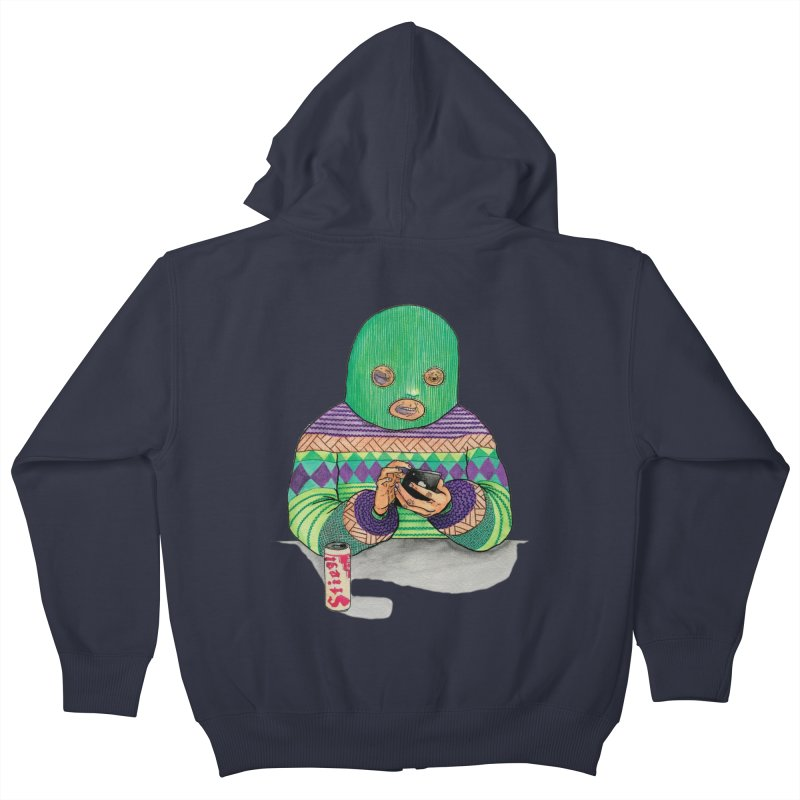 Sweatermen Tee Kids Zip-Up Hoody by DEADBEAT HERO Artist Shop
