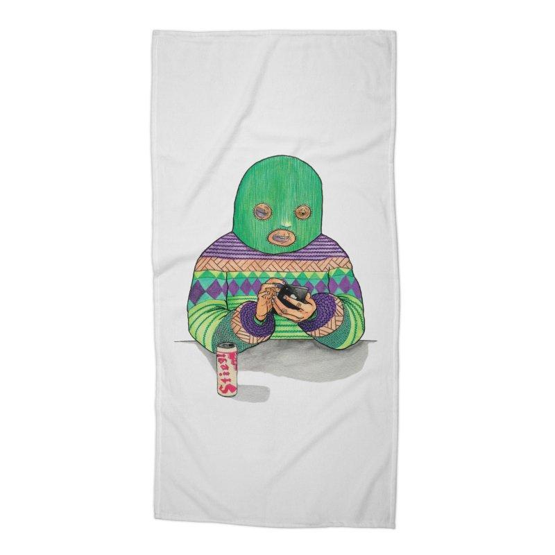 Sweatermen Tee Accessories Beach Towel by DEADBEAT HERO Artist Shop