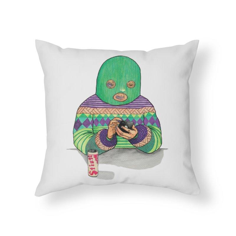 Sweatermen Tee Home Throw Pillow by DEADBEAT HERO Artist Shop