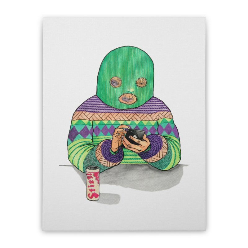Sweatermen Tee Home Stretched Canvas by DEADBEAT HERO Artist Shop