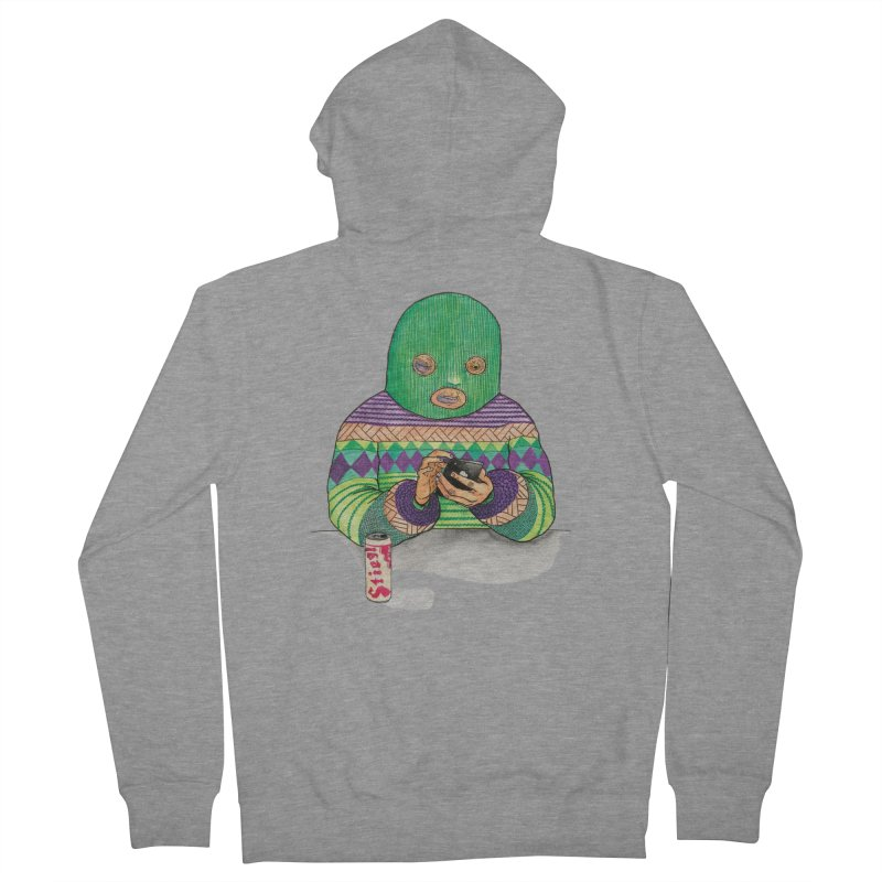 Sweatermen Tee Men's French Terry Zip-Up Hoody by DEADBEAT HERO Artist Shop