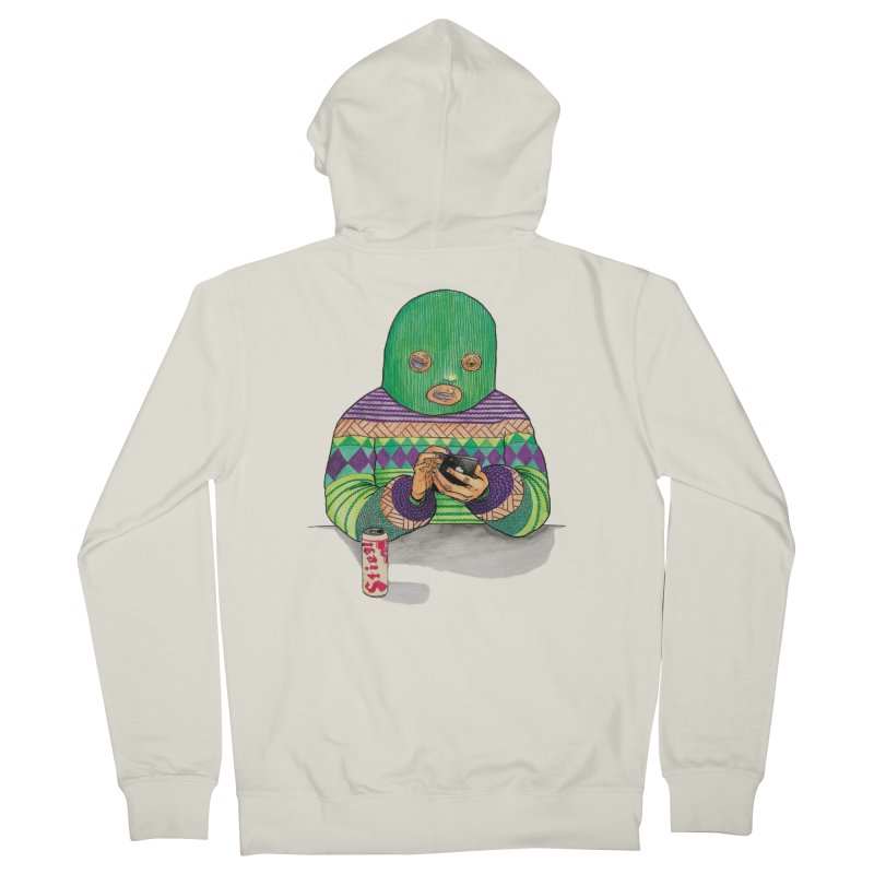 Sweatermen Tee Men's French Terry Zip-Up Hoody by DEADBEAT HERO Artist Shop