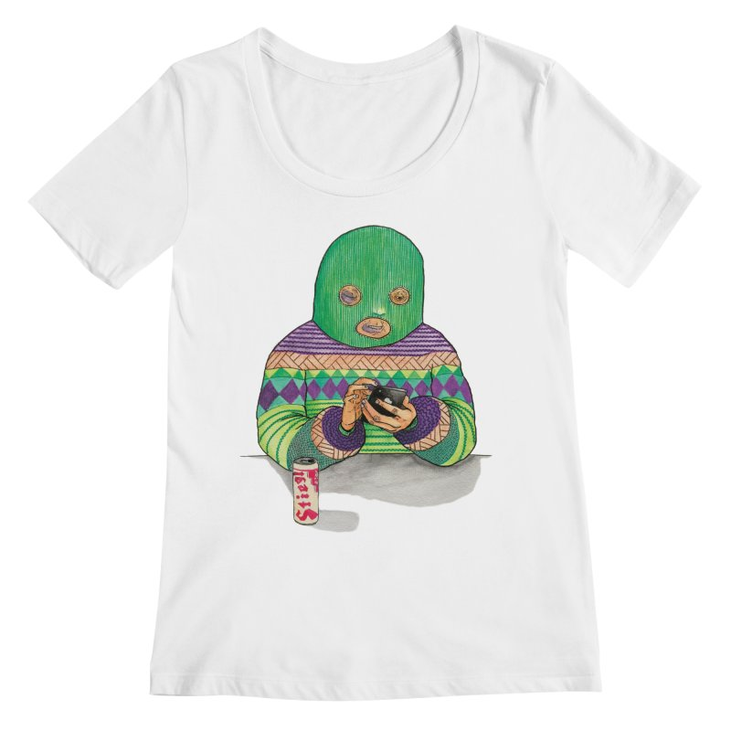 Sweatermen Tee Women's Regular Scoop Neck by DEADBEAT HERO Artist Shop
