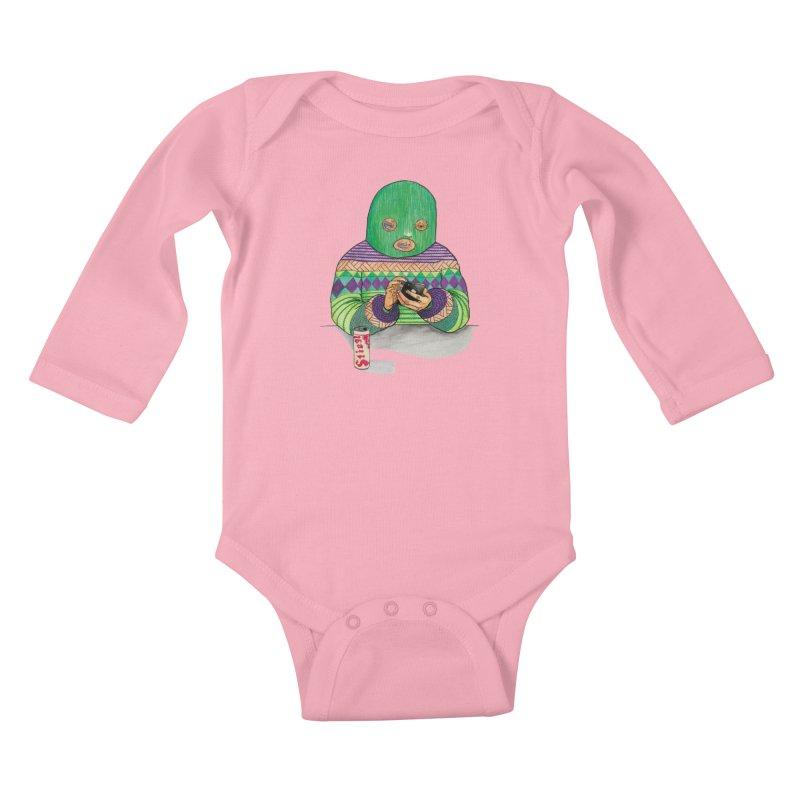 Sweatermen Tee Kids Baby Longsleeve Bodysuit by DEADBEAT HERO Artist Shop