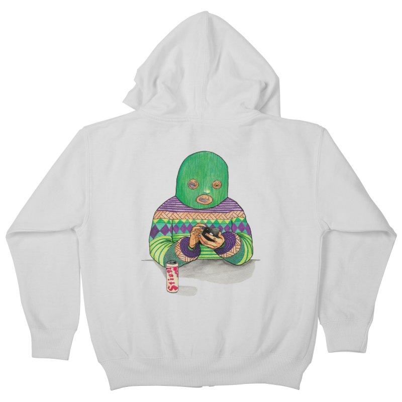 Sweatermen Tee Kids Zip-Up Hoody by DEADBEAT HERO Artist Shop