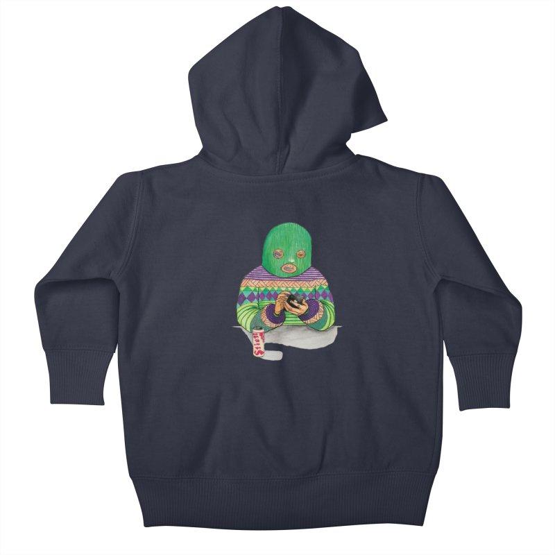 Sweatermen Tee Kids Baby Zip-Up Hoody by DEADBEAT HERO Artist Shop
