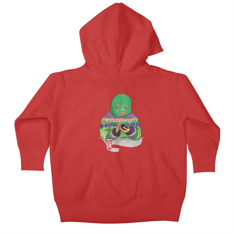 Sweatermen Tee Kids Baby Zip-Up Hoody by DEADBEAT HERO Artist Shop