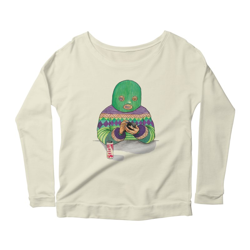 Sweatermen Tee Women's Scoop Neck Longsleeve T-Shirt by DEADBEAT HERO Artist Shop