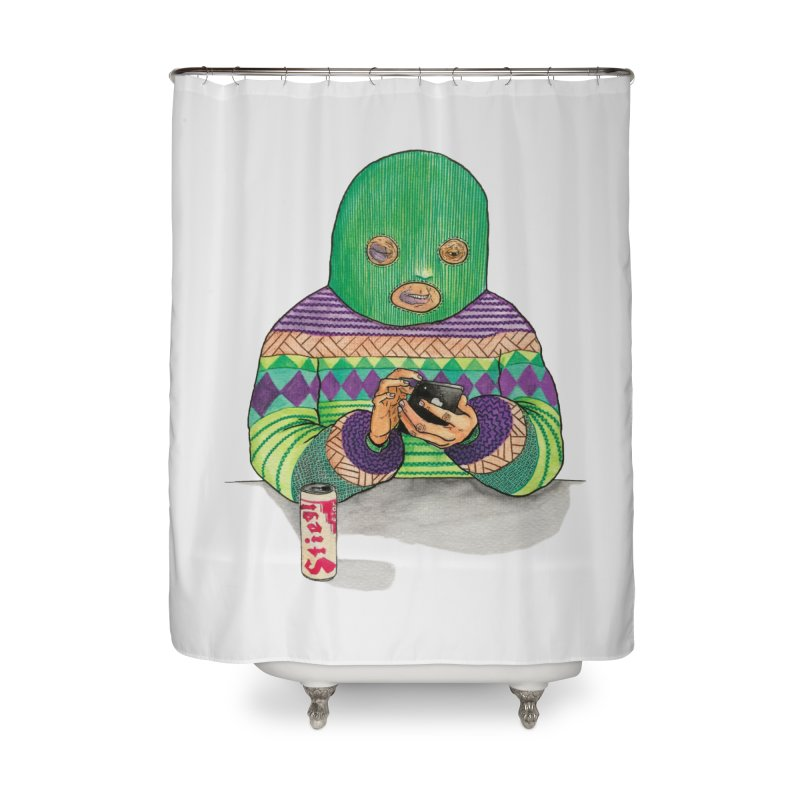 Sweatermen Tee Home Shower Curtain by DEADBEAT HERO Artist Shop