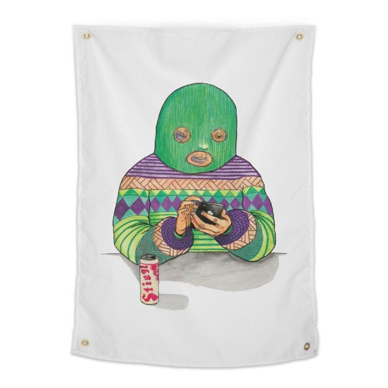 Sweatermen Tee Home Tapestry by DEADBEAT HERO Artist Shop