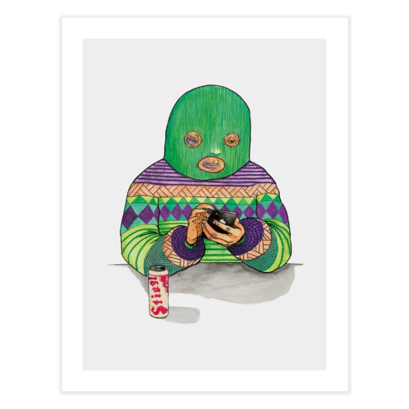 Sweatermen Tee Home Fine Art Print by DEADBEAT HERO Artist Shop