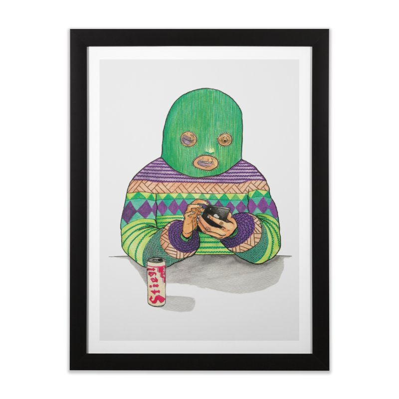 Sweatermen Tee Home Framed Fine Art Print by DEADBEAT HERO Artist Shop