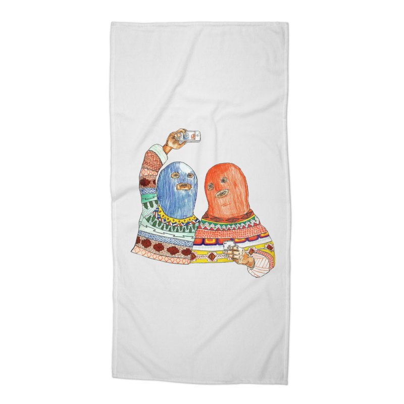 Selfies Accessories Beach Towel by DEADBEAT HERO Artist Shop
