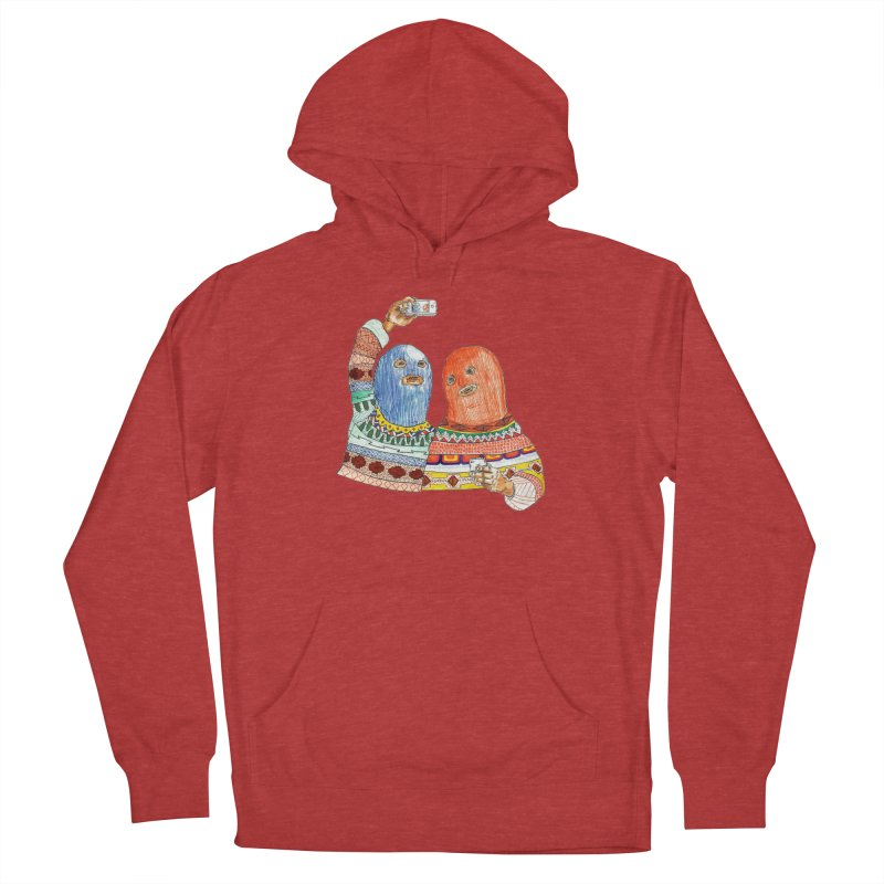 Selfies Men's French Terry Pullover Hoody by DEADBEAT HERO Artist Shop