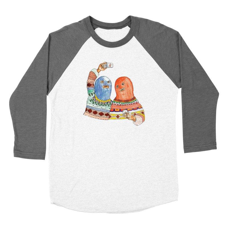 Selfies Women's Baseball Triblend Longsleeve T-Shirt by DEADBEAT HERO Artist Shop