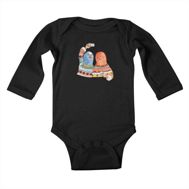 Selfies Kids Baby Longsleeve Bodysuit by DEADBEAT HERO Artist Shop