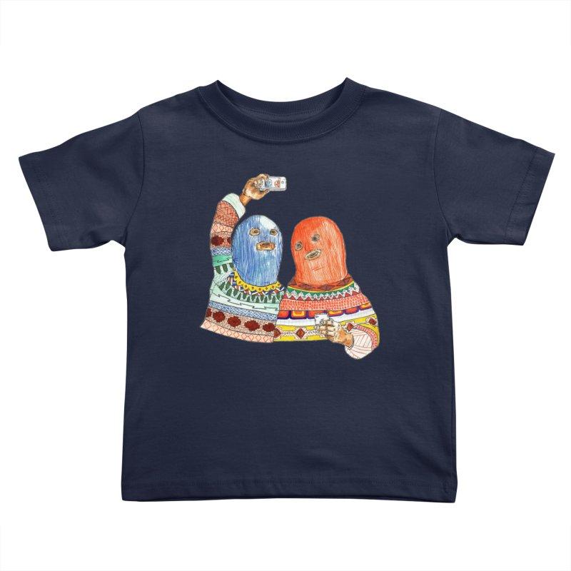 Selfies Kids Toddler T-Shirt by DEADBEAT HERO Artist Shop