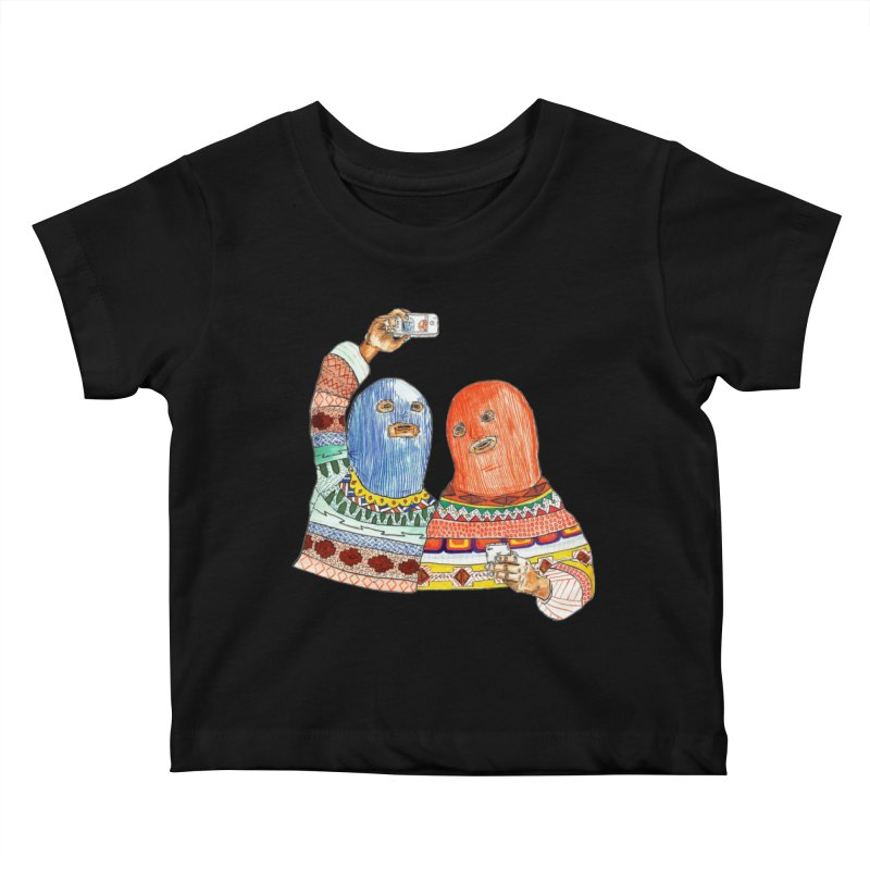 Selfies Kids Baby T-Shirt by DEADBEAT HERO Artist Shop