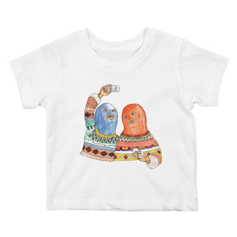 Selfies Kids Baby T-Shirt by DEADBEAT HERO Artist Shop