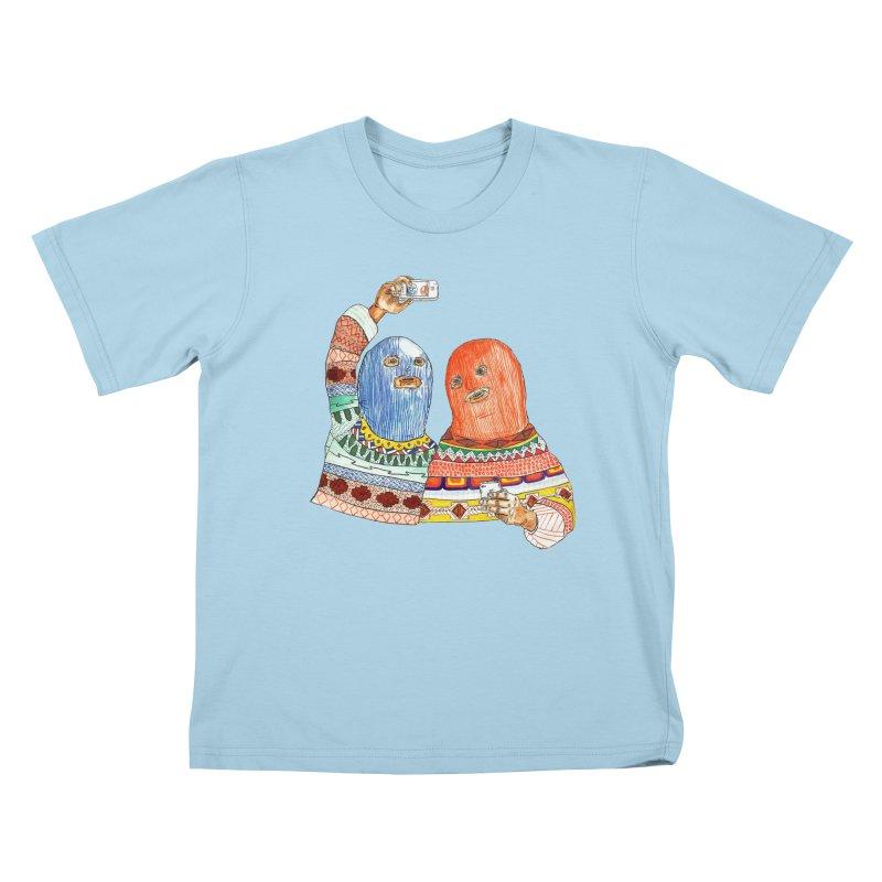 Selfies Kids T-Shirt by DEADBEAT HERO Artist Shop