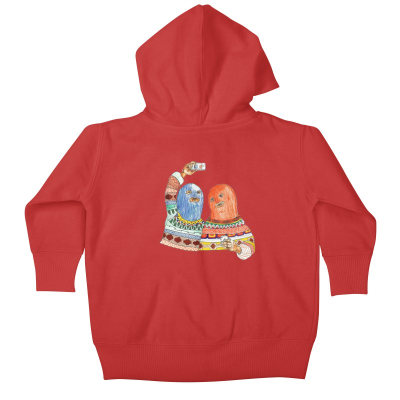 Selfies Kids Baby Zip-Up Hoody by DEADBEAT HERO Artist Shop