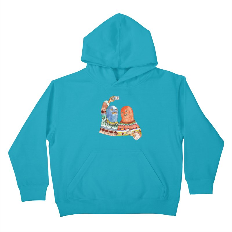 Selfies Kids Pullover Hoody by DEADBEAT HERO Artist Shop