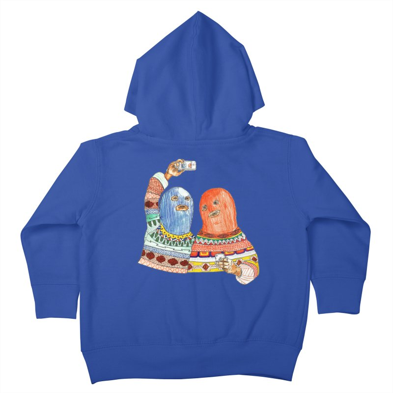 Selfies Kids Toddler Zip-Up Hoody by DEADBEAT HERO Artist Shop